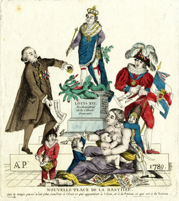 A.P., 'Nouvelle Place de la Bastille', July 1789. British Museum