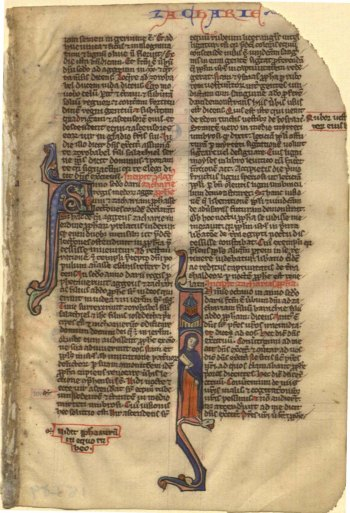 Zacharias, from a Latin Bible in the St AndrewsUniversity Library collections