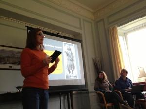 Senior PG Laura Hedrick presenting her paper