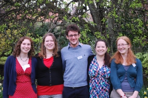 SAIMS Postgraduate Organisers of the Gender & Transgression Conference: Eilidh Harris, Laura Tompkins, Mike French, Anna Peterson and Miriam Buncombe