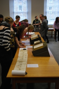 Conference participants visiting University Library Special Collections