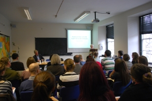 Prof. Pauline Stafford gives the keynote lecture