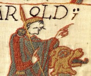 One of several moustaches featured on the Bayeux Tapestry.