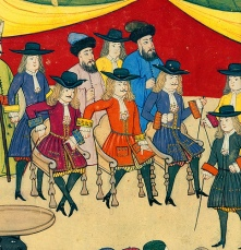 European ambassadors, Ottoman miniature painting in the Surname-i Hümayun (Imperial Festival Book, 1720).
