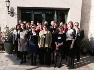 Dr Easterby-Smith and Dr Senior (front right) with the conference delegates.