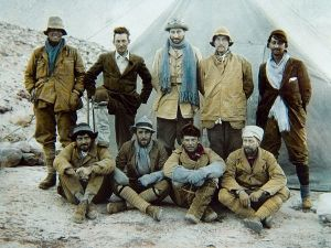 Team-members of the 1924 Everest expedition.