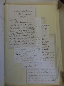 Referee reports on papers submitted to the Philosophical Transactions in 1873.