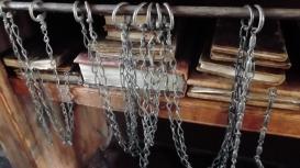 Chained books at the Biblioteca Malatestiana, Cesena.