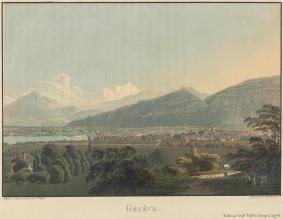 Geneva: network hub and Alpine gateway? © Bibliothèque de Genève / VIATICALPES