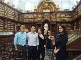 On a visit to the Biblioteca Casanatense, Rome, with St Andrews students in May 2013.