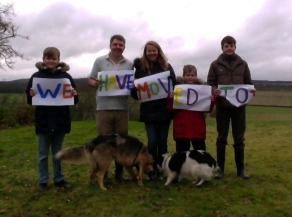 ...to St Andrews! Richard Whatmore with his family and 'unruly dogs'.