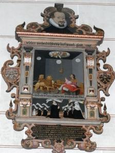 An epitaph in the Stiftskirche in Urach.