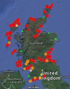 A sample of the SCAPE map of sites at risk.