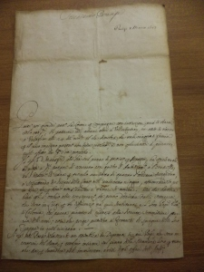 Letter from the Modenese envoy in Paris, Gaspare Rizzini, on 10 March 1683