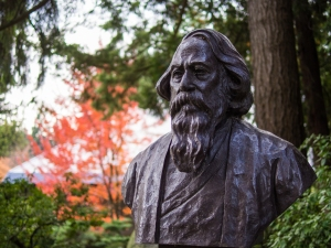 Rabindranath Tagore,  photo attr. Eugene Kim, CC BY 2.0