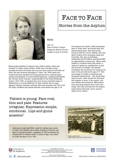 Face to Face: Stories from the Asylum | St Andrews School of